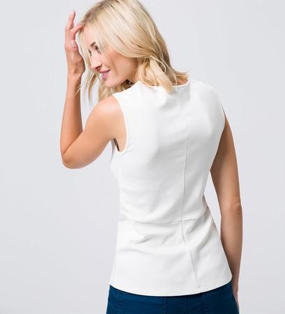 T-Shirt mit Pailletten in offwhite