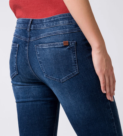 Jeans im Used-Look 32 Inch in mid blue soft wash details