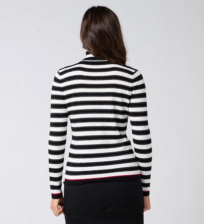 Pullover mit Rollkragen in black