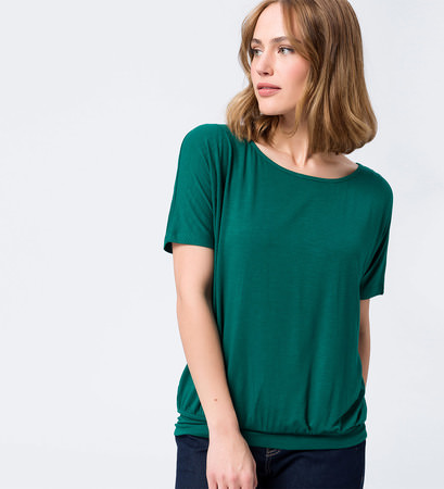Shirt mit breitem Bund in green