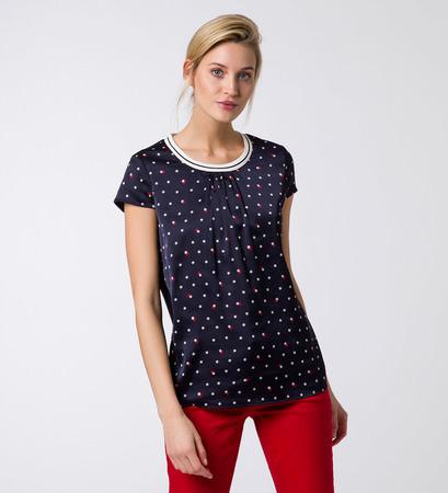 Shirt mit Blumenmuster in blue black