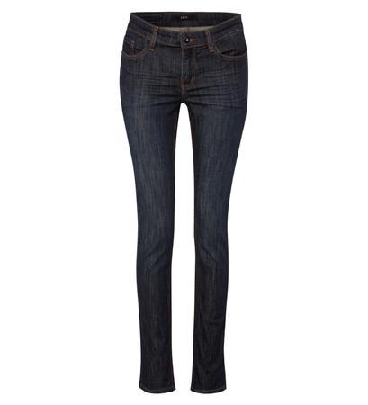 Slim Fit-Jeans Orlando 30 Inch in dark blue stone washed