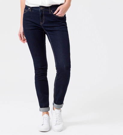 Jeans Skinny fit 32 Inch in dark blue rinsed washed
