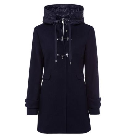 Mantel mit Kapuze in blue black