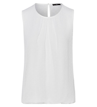 Top im Chiffon-Look in offwhite