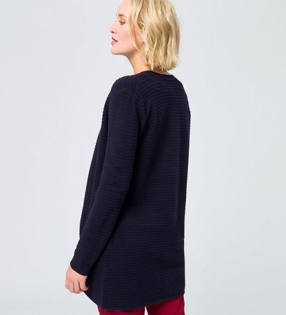 Longcardigan ohne Verschluss in blue black