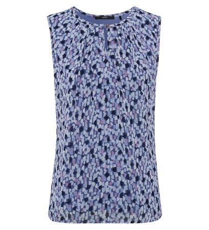 Bluse mit Alloverprint in shadow blue