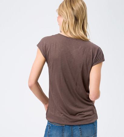 T-Shirt aus Flammgarn in brown