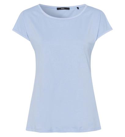 T-Shirt im Basic-Look in horizon blue