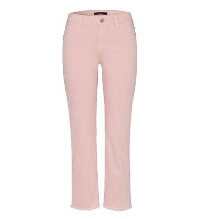 Jeans ausgestellt mit Fransen in soft rose