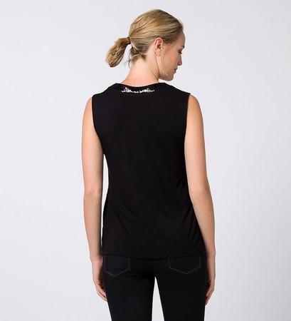 Top im Layering-Look in black