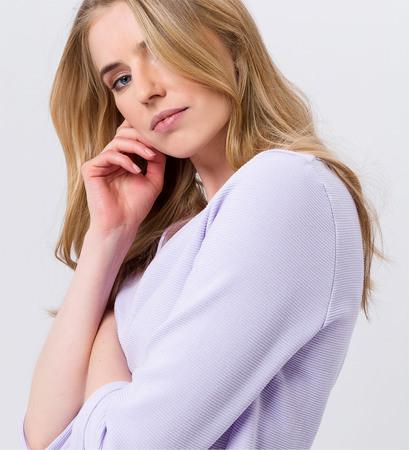 Shirt mit 3/4-Ärmeln in lavender