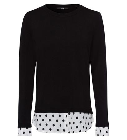 Pullover mit Bluseneinsatz in black