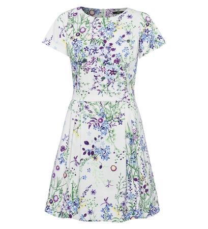 Kleid mit floralem Print in soft white