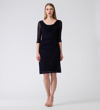 Kleid mit Schmucksteinen in blue black