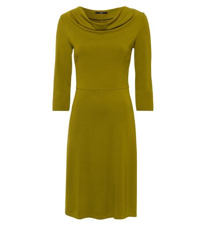 Kleid aus komfortablem Jersey in avocado green