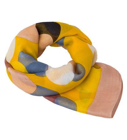 Tuch in pflegeleichter Webqualität in safran yellow