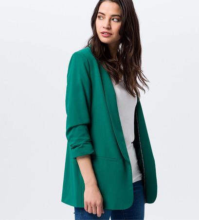 Blazer mit Schalkragen in green