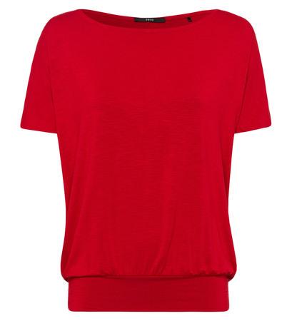 Shirt mit breitem Bund in red