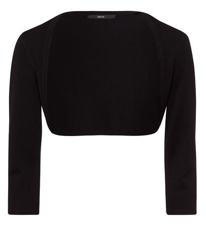 Bolero im unifarbenen Design in black