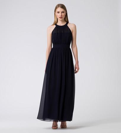 Kleid im edlen Design in blue black