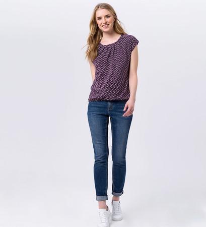 T-Shirt mit Blümchenmuster in plum