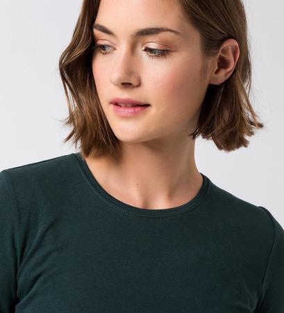Langarmshirt Reese mit Rundhalsausschnitt in deep green
