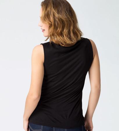 Shirt im raffinierten Look in black