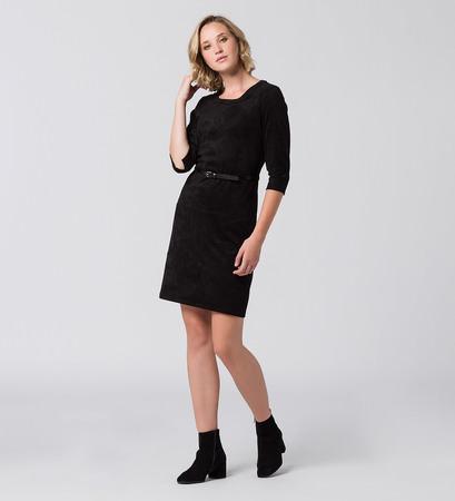 Kleid aus Wildlederimitat in black