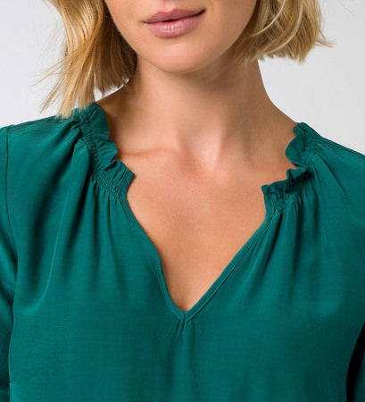 Bluse im Oversize-Look in ivy green