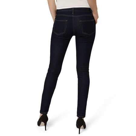 Skinny Fit-Jeans Padua 30 inch in dark blue rinsed washed