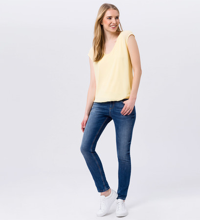 Chiffonbluse mit Bindedetail in yellow