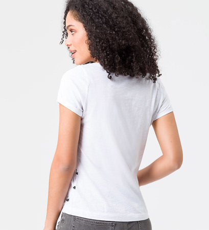T-Shirt mit Frontprint in white