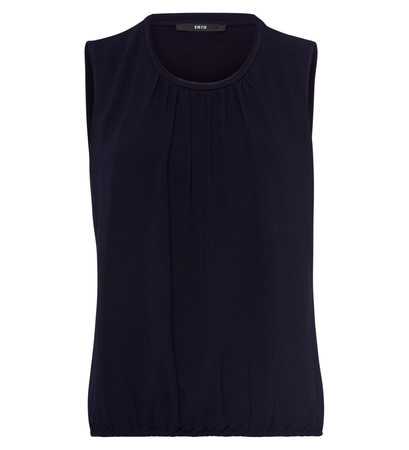 Blusentop im Lagen-Look in blue black