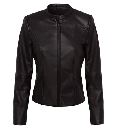 Jacke aus Lederimitat in black