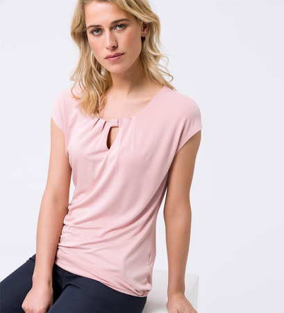 Shirt mit Keyhole-Design in dusty pink