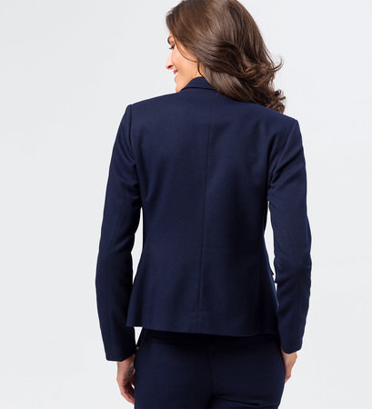 Blazer mit strukturierter Oberfläche in blue black