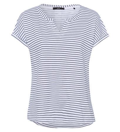 T-Shirt mit Streifenmuster in blue black