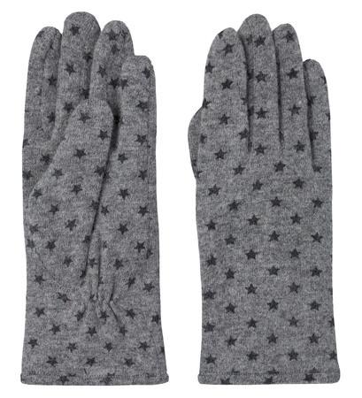 Handschuhe mit Sternchen-Print in stone grey-m
