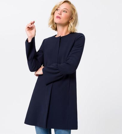 Mantel mit Trompetenärmeln in blue black