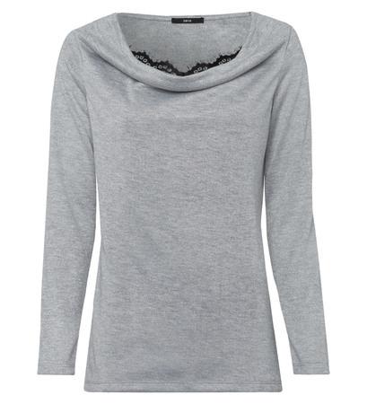 jersey sweater mit integriertem top
