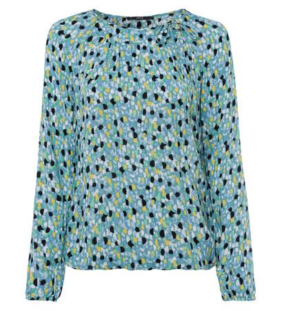 Bluse mit Print in dusk jade