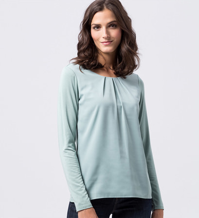 Blusenshirt in light jade