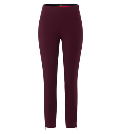 Hose mit Gummibund in grape red