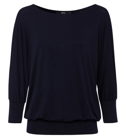 T-Shirt mit U-Boot-Ausschnitt in blue black