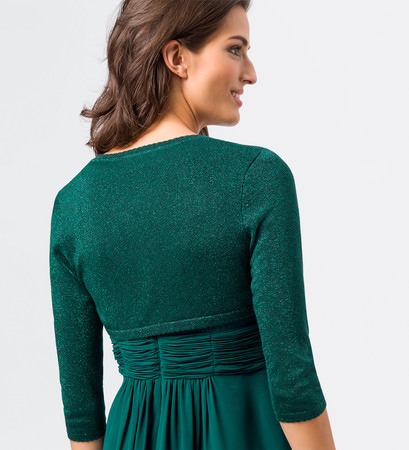 Bolero im Glitzer-Look in dark teal