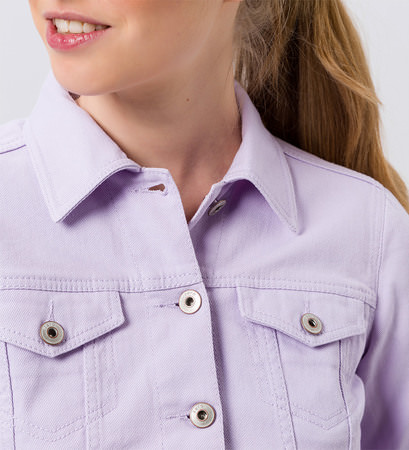 Jacke aus Denim in lavender