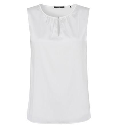 Bluse mit Schlüsselloch-Ausschnitt in offwhite