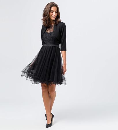 Bolero im Blazer-Look in black