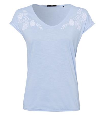 T-Shirt mit Stickerei in horizon blue